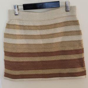 WOW Couture Sparkle Gold Mini Skirt